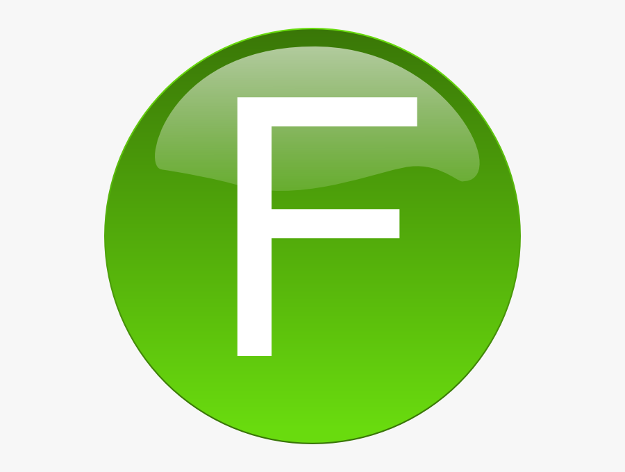 Transparent Clipart Löwe - Letter F In Green Circle, Transparent Clipart