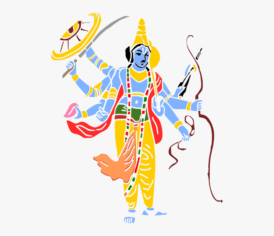 Art,area,artwork - Lord Vishnu Png, Transparent Clipart