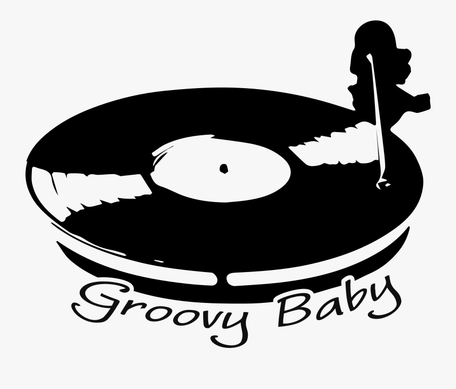 Groovy Baby Vinyl Turntable T-shirts Available @ Phoxy - Illustration, Transparent Clipart