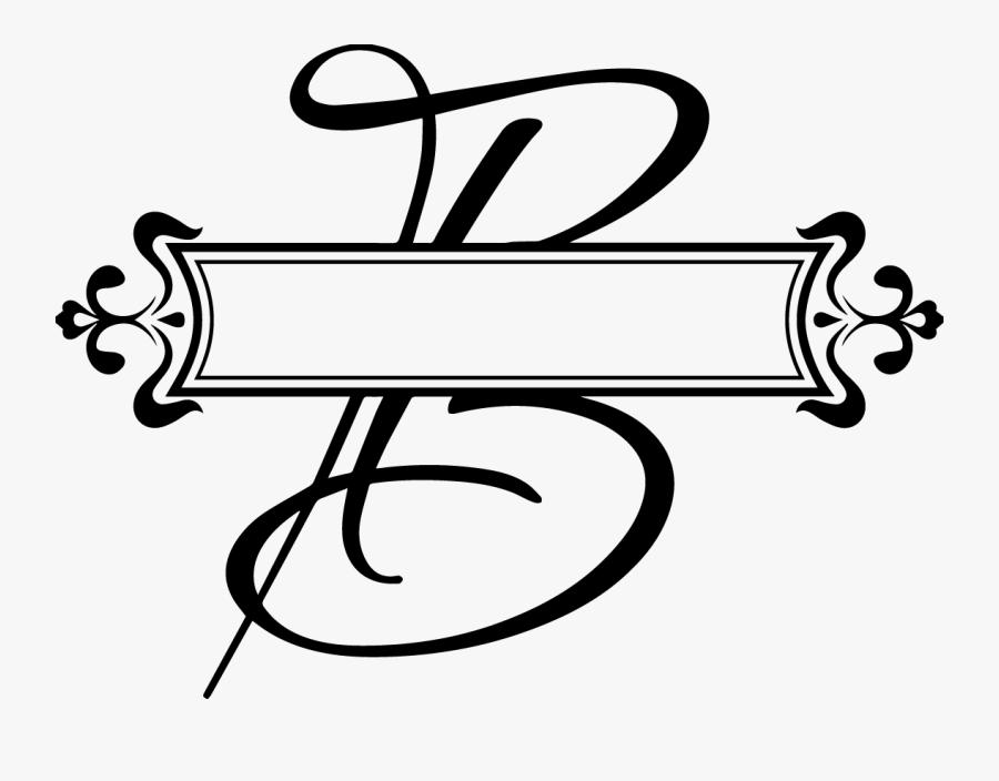 Split Fancy Letter Vinyl Monogram Decal - Fancy Letter P Png, Transparent Clipart