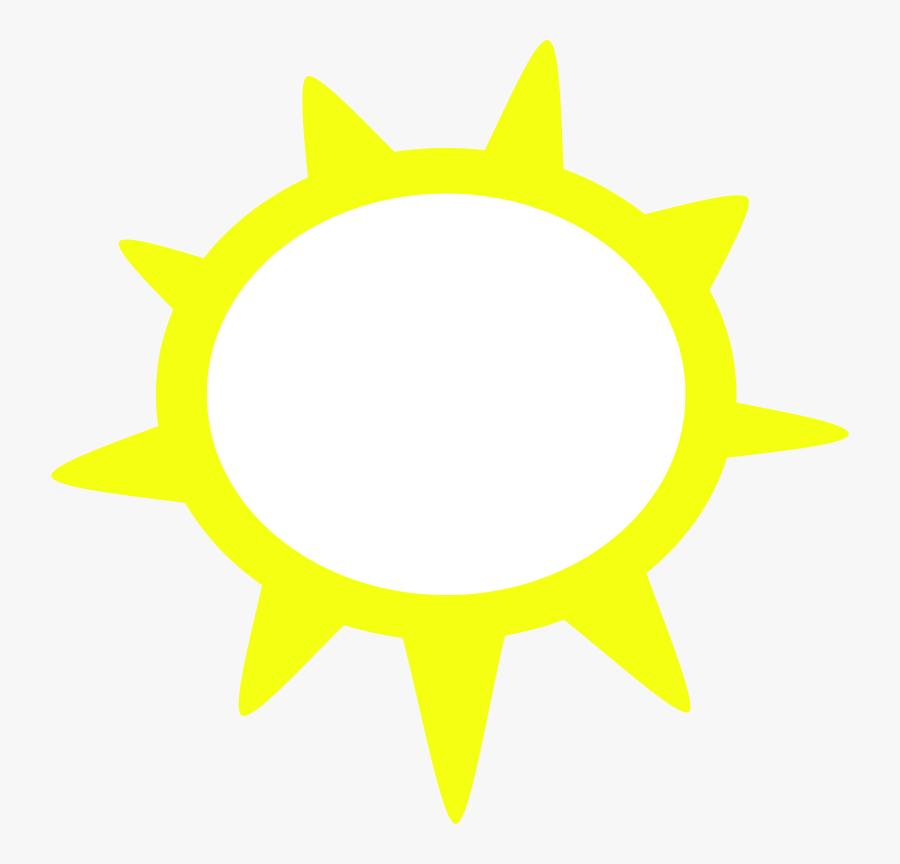 Weather Symbols Sun, Transparent Clipart