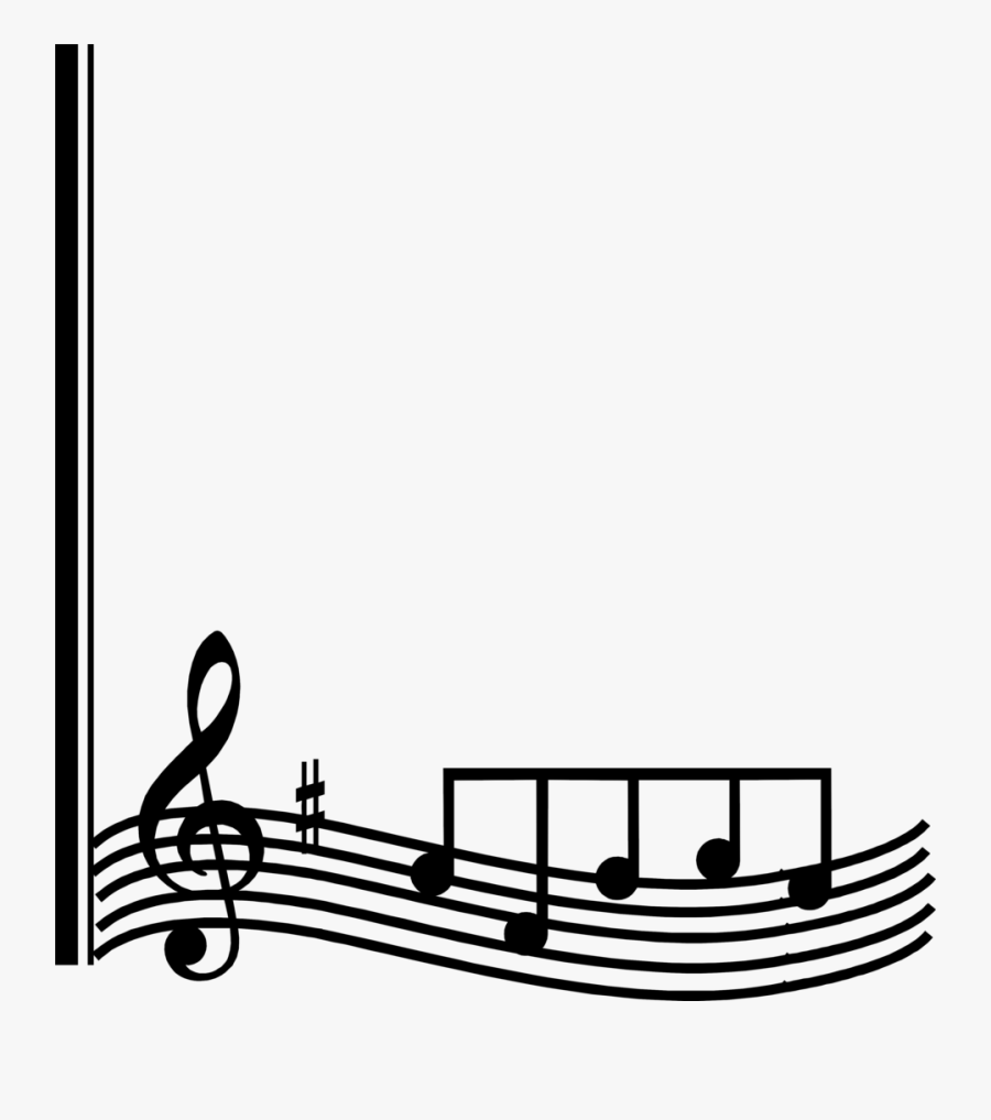 Music Border Png - Music Notes Border Clipart, Transparent Clipart