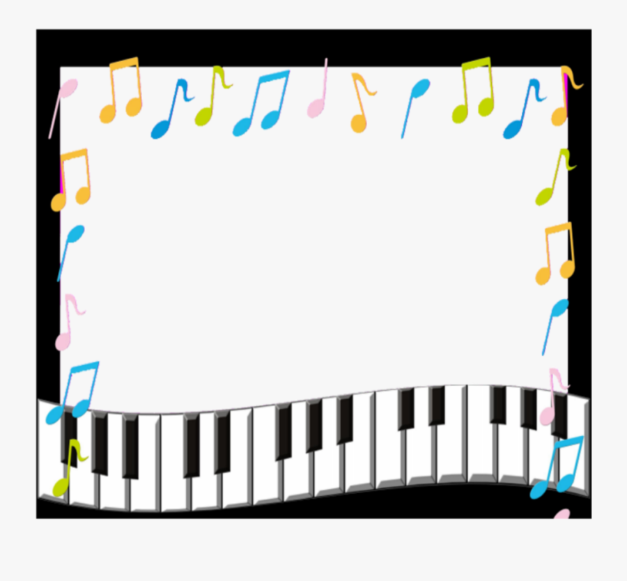 Transparent Music Frame Png - Music Notes Borders And Frames, Transparent Clipart