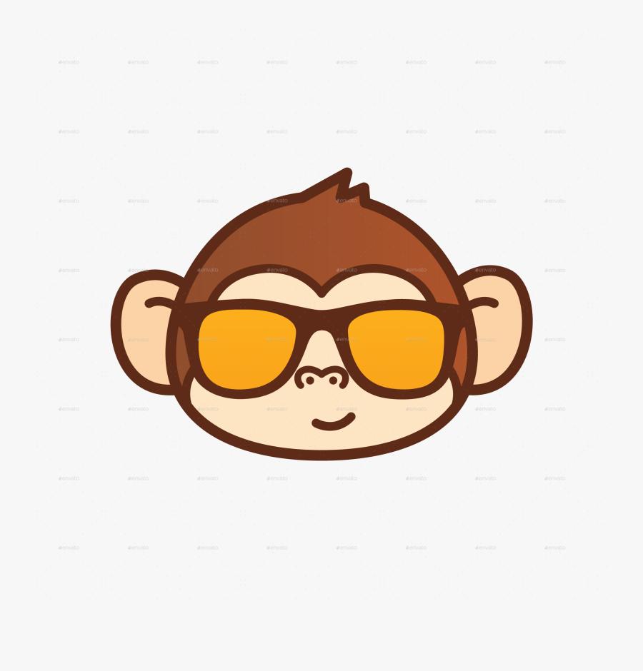Transparent Cartoon Monkey Png - Cute Monkey Face Cartoon, Transparent Clipart