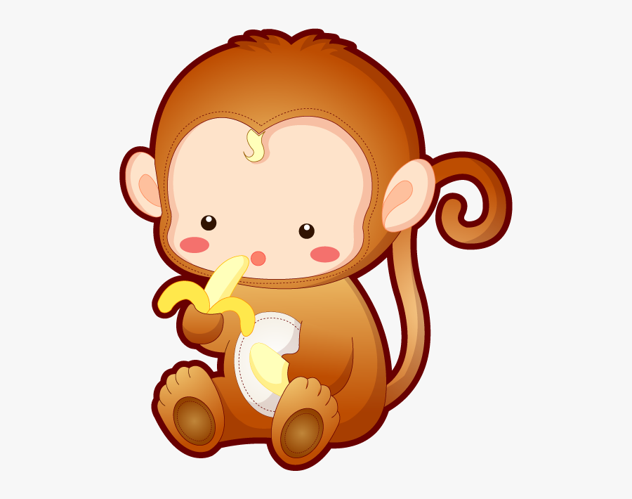 Animated Monkeys Pictures - Cartoon Cute Baby Monkey, Transparent Clipart