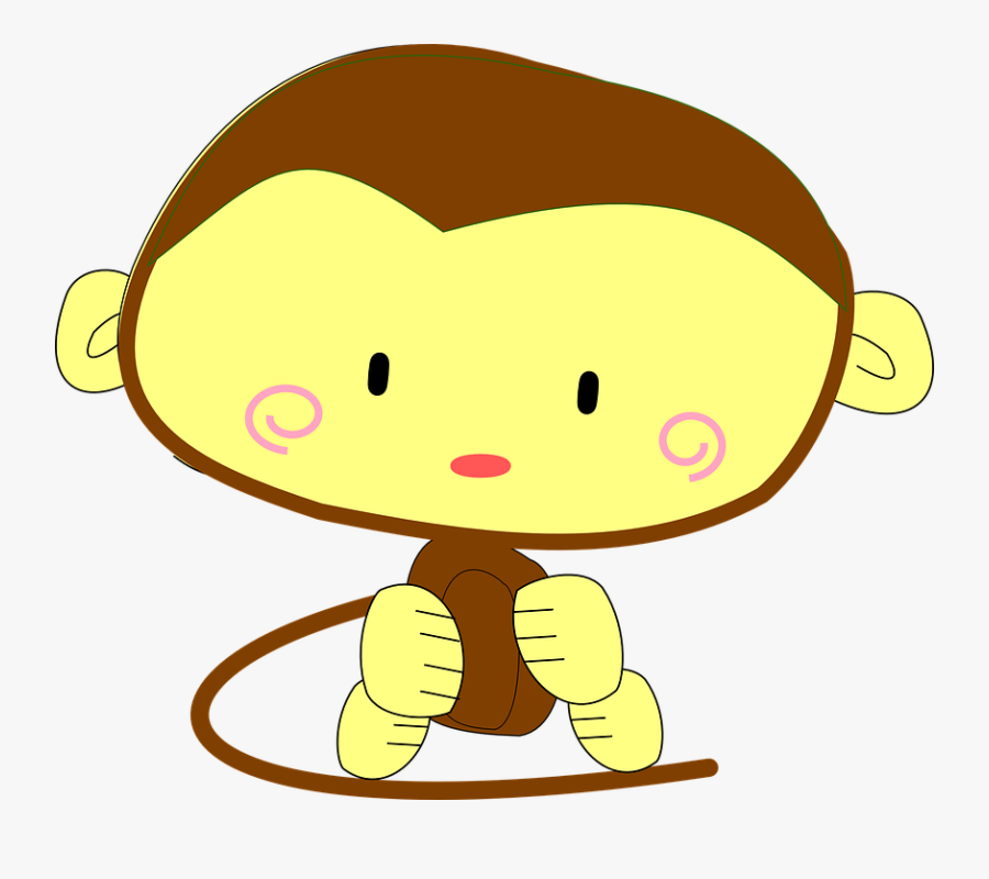 Why Are Women So Mean To One Another - Cute Monkey, Transparent Clipart