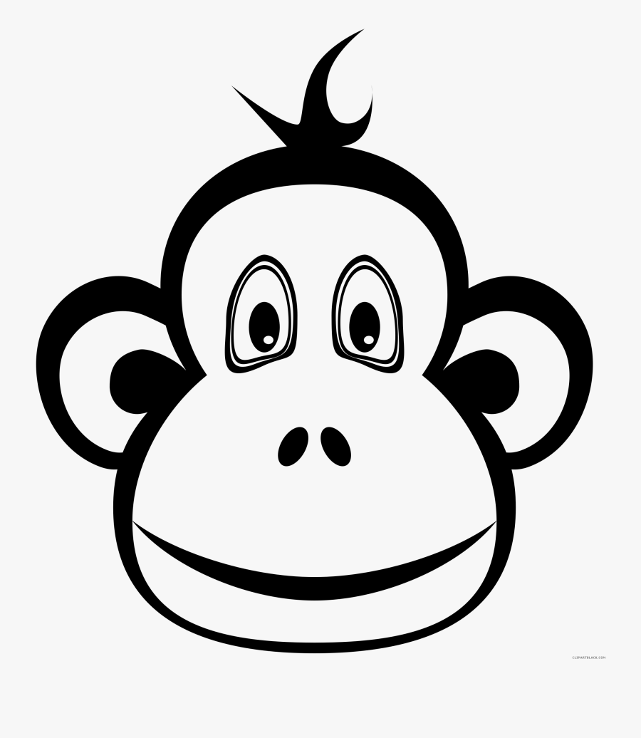 Cute Monkey Clipart Silhouette Collection - Cartoon Black And White Monkey Clipart, Transparent Clipart