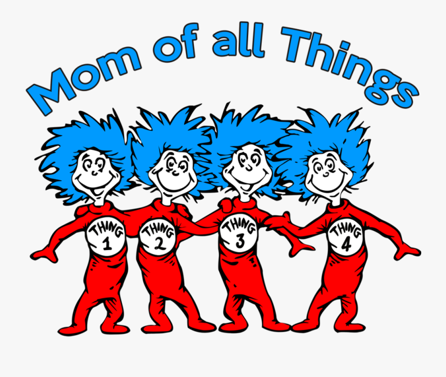 Thing 1 And Thing 2 Clipart , Png Download - Clip Art Dr Seuss Thing 1 And Thing 2, Transparent Clipart