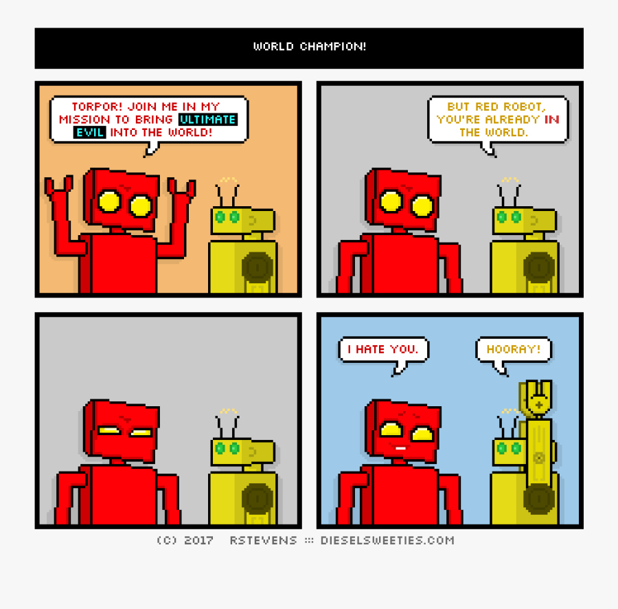 Diesel Sweeties Red Robot, Transparent Clipart