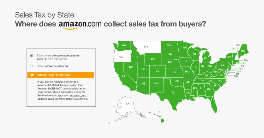 Transparent Amazon Clipart - Us Sales Tax 2018, Transparent Clipart