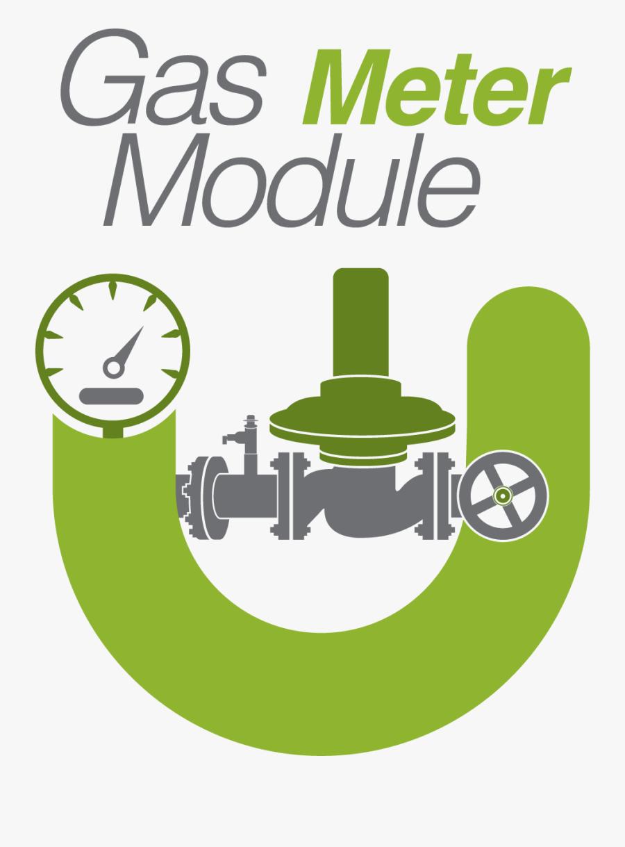 Clip Art Gas Meter Clipart - Gas Meter Set Icon, Transparent Clipart