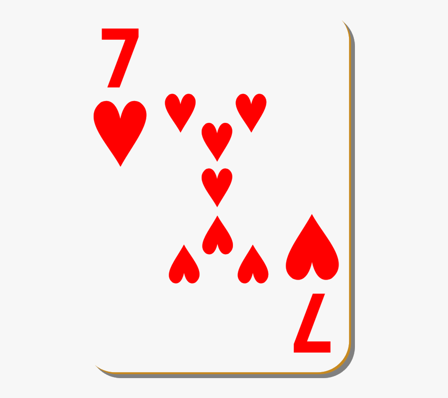 Playing Cards Deck Of Clipart Transparent Png - 7 Of Hearts Playing Card, Transparent Clipart