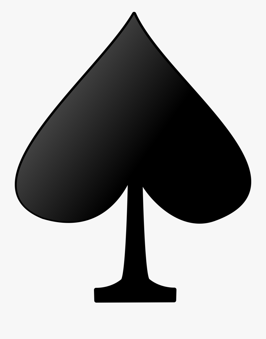 Black And White,playing Card,spades - Playing Cards Symbols Spade, Transparent Clipart