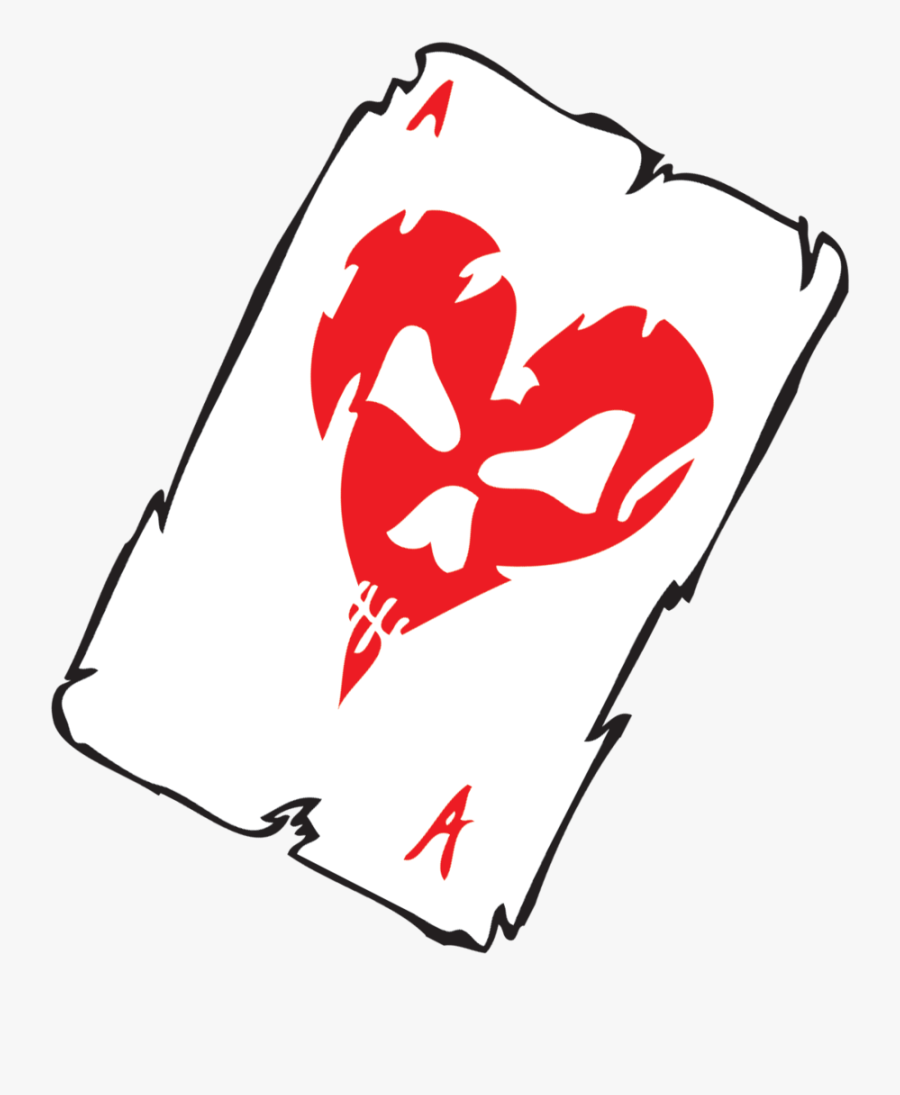 Transparent Deck Of Cards Clipart - Ace Of Hearts Card Transparent, Transparent Clipart