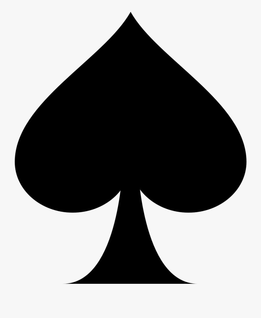 Playing Card Ace Of Spades Suit Clip Art - Ace Of Spades Clipart, Transparent Clipart