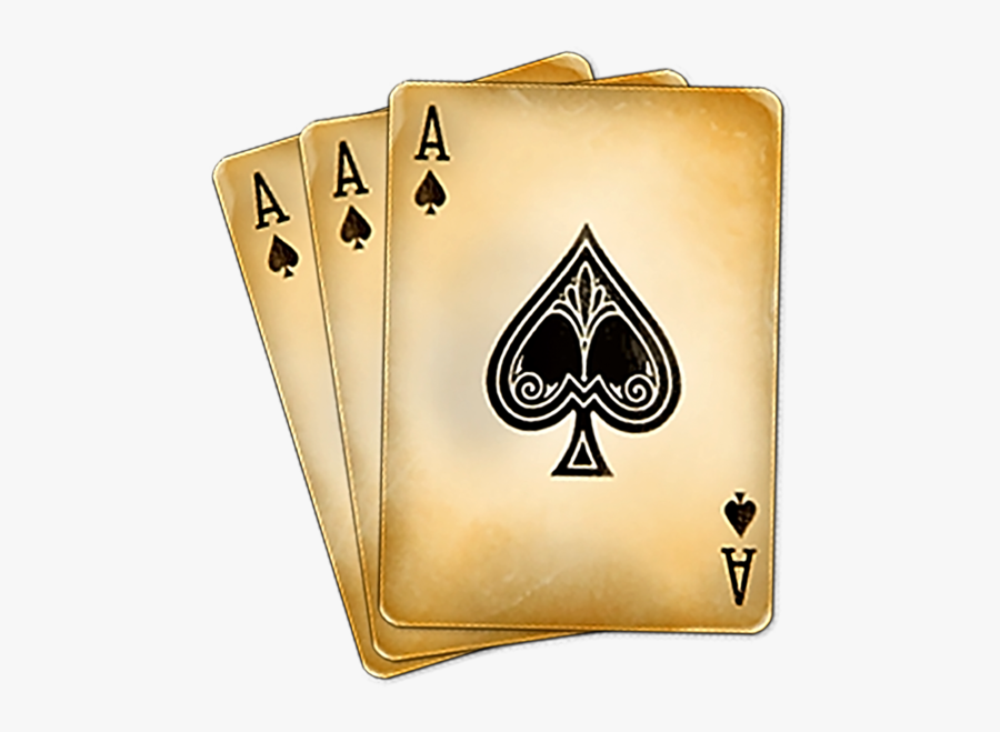 Poker Clipart Deck Card - Playing Cards Ace Of Spades, Transparent Clipart