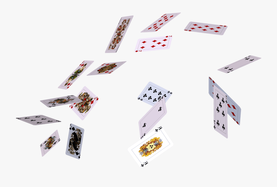 Cards Transparent Background - Flying Play Card Png, Transparent Clipart