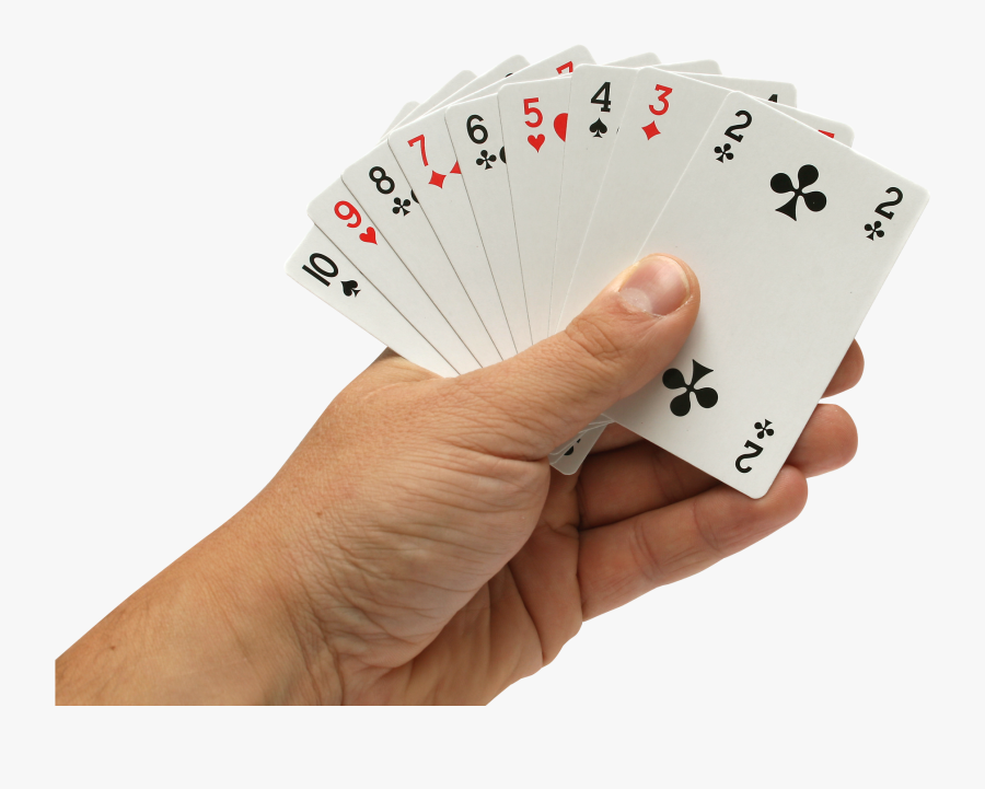 Transparent Casino Cards Png - Playing Cards In Hand Png, Transparent Clipart