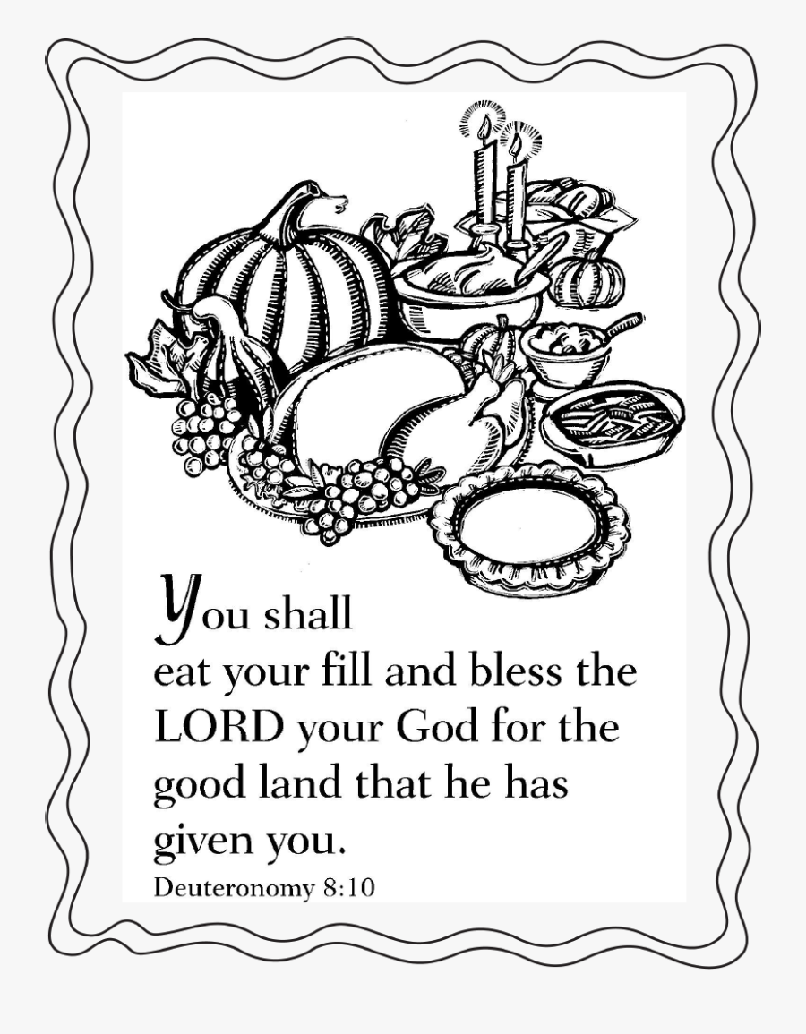 Scripture Thanksgiving Coloring Pages - Short Break The Rules Forgive, Transparent Clipart