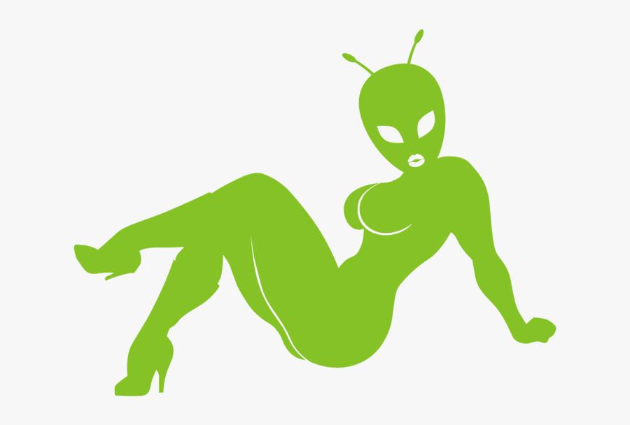 Sexy Alien, Transparent Clipart
