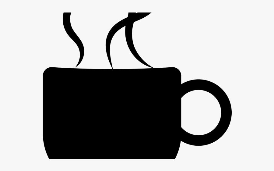 Silhouette Coffee Mug Design, Transparent Clipart