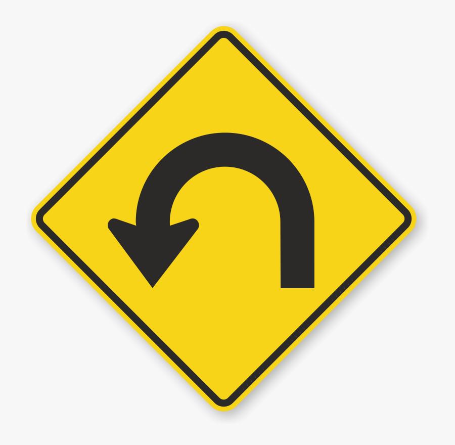 Clip Art U Signs Zoom Price - U Turn Traffic Sign, Transparent Clipart