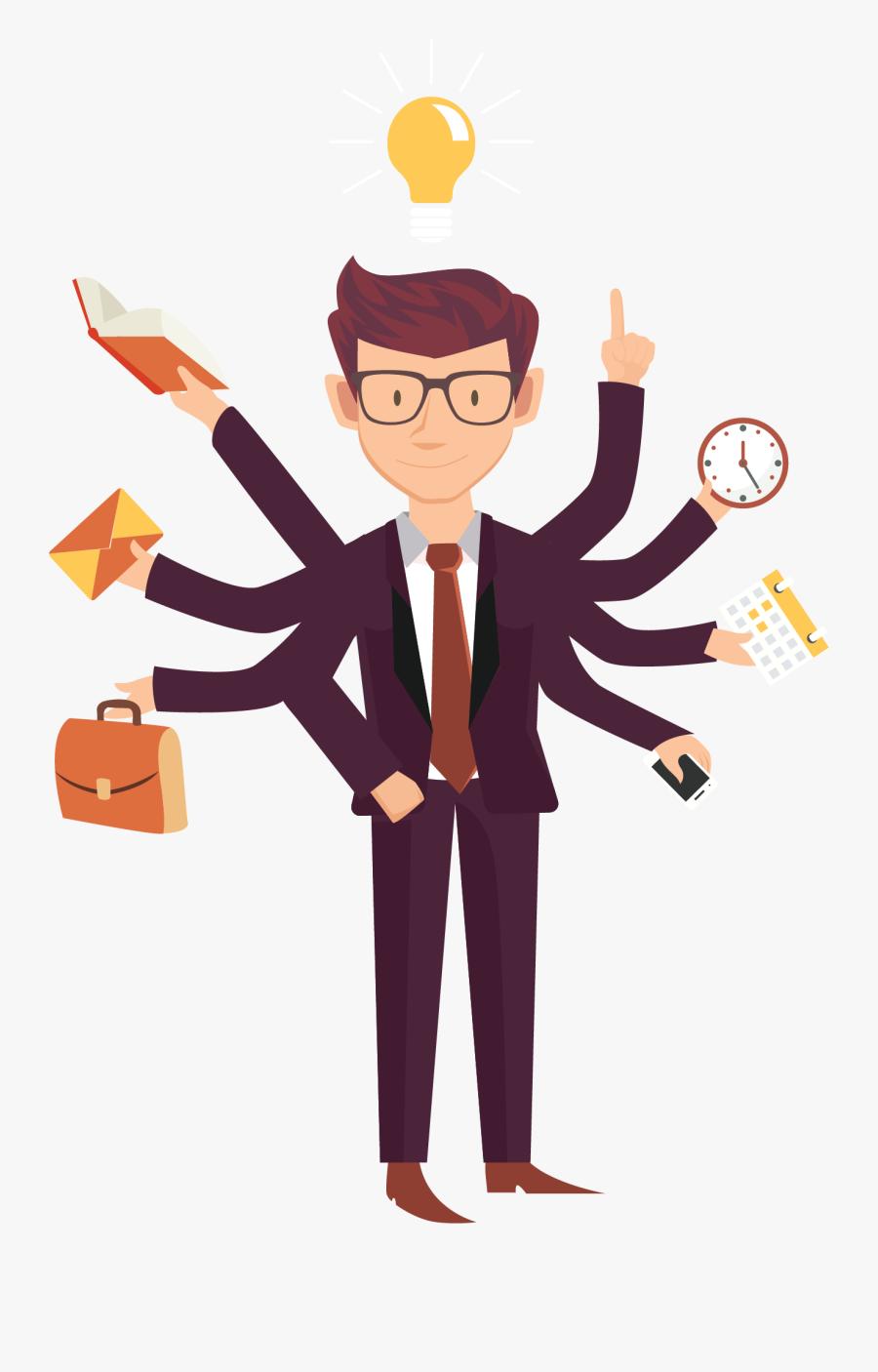 Busy Business People Entrepreneurship Job Employment - Business Is Better Than Job, Transparent Clipart