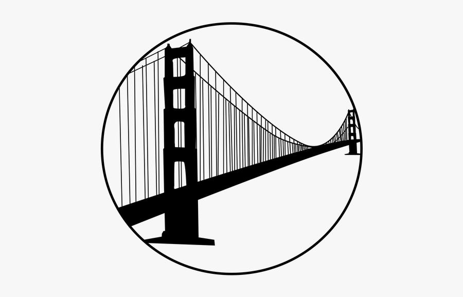 Golden Gate Bridge San Francisco Bay Clip Art - Golden Gate Bridge Logo Transparent, Transparent Clipart