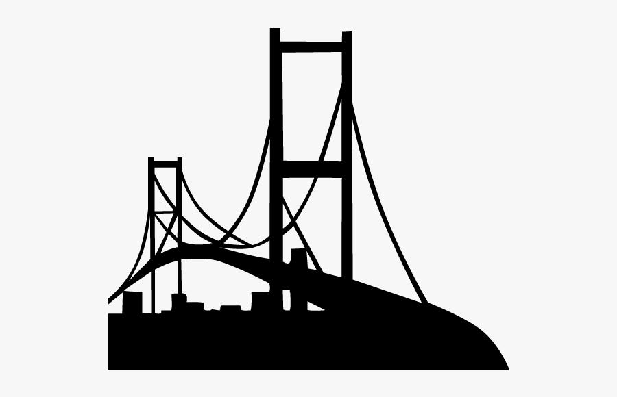 San Francisco Oakland Bay Bridge Golden Gate Bridge - Civil Engineering Bridge Logo, Transparent Clipart
