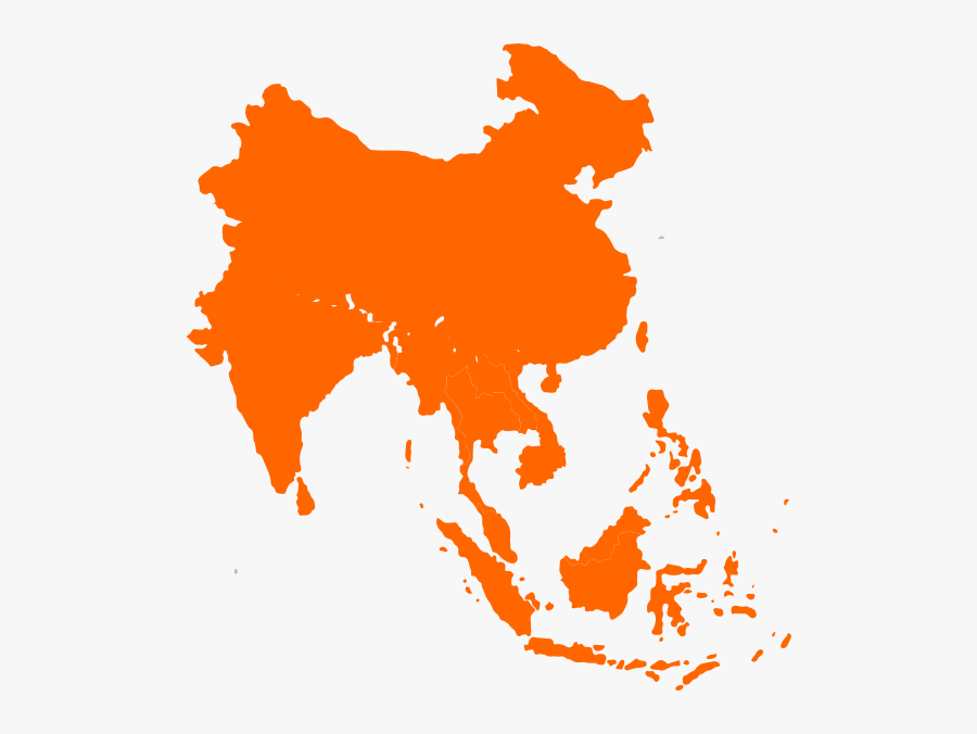 South East Asia Vector, Transparent Clipart
