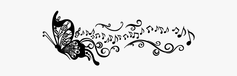 Butterfly And Music Note Tattoo Free Transparent Clipart Clipartkey