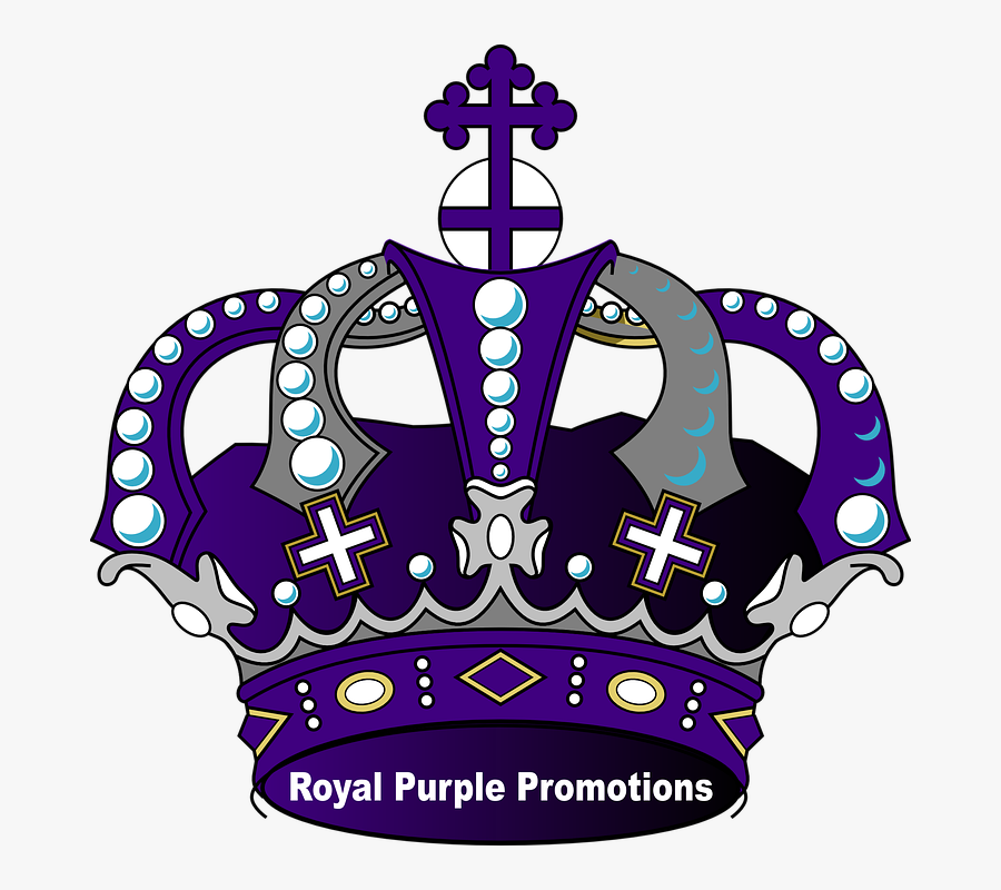 Crown, Royal, Power, Majestic, Gems, Jewelry, Crosses - Purple And Gold Crown Png, Transparent Clipart