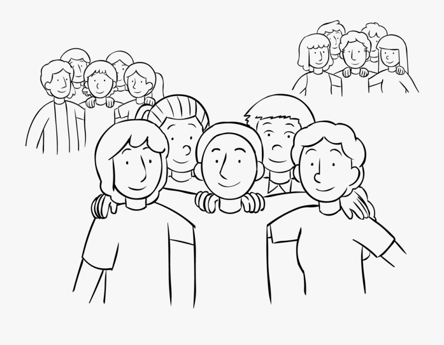 Empowered Teams - Group Of People Drawing, Transparent Clipart