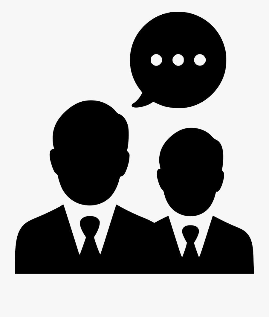 Negotiations Men Group Communication Team Talking - Blue Man Icon Png, Transparent Clipart
