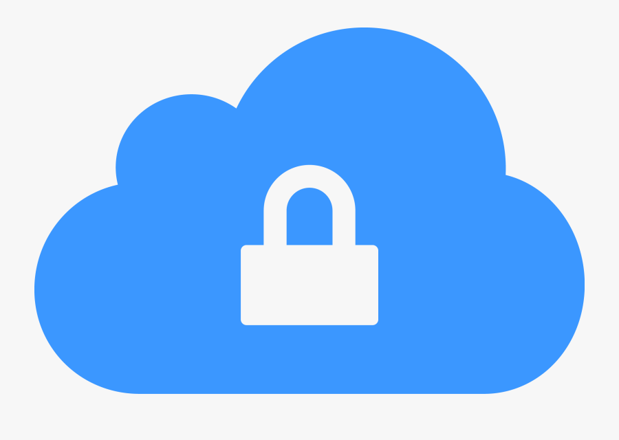 A Image Of A Lock And A Cloud - Cloud Technology Clipart, Transparent Clipart
