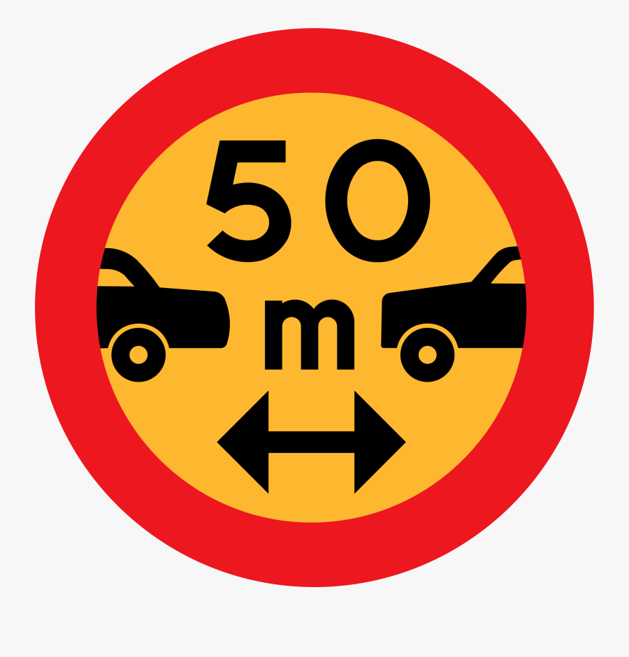 Distance Between Cars Icon, Transparent Clipart