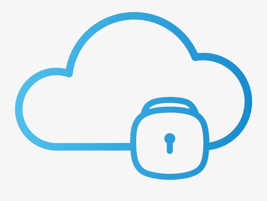 Secure Cloud, Transparent Clipart