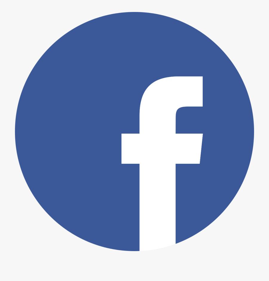 Facebook Logo Png Flat Clipart Image - Transparent Facebook Logo Round, Transparent Clipart