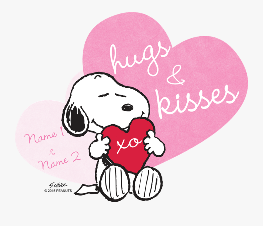 Snoopy Hugs And Kisses, Transparent Clipart