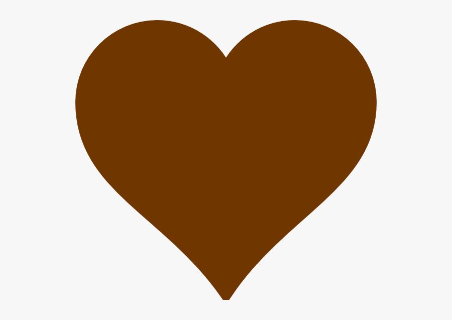 Brown Heart Clip Art At Clker - Brown Heart Clipart, Transparent Clipart