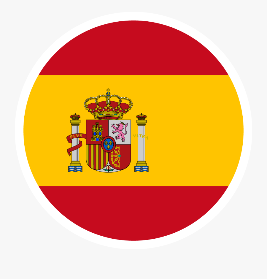 2018 Fifa World Cup Country Flags Football Logos - Spain Flag Round Icon, Transparent Clipart