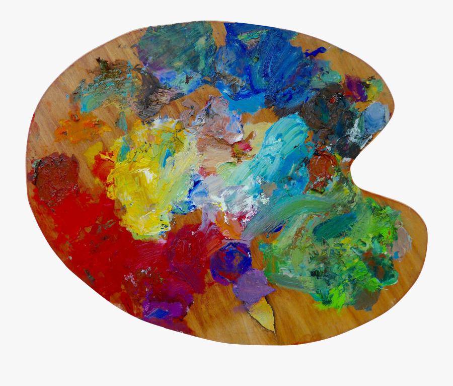 Clip Art Artist Palette Chairish - Oil Paints On Palette, Transparent Clipart