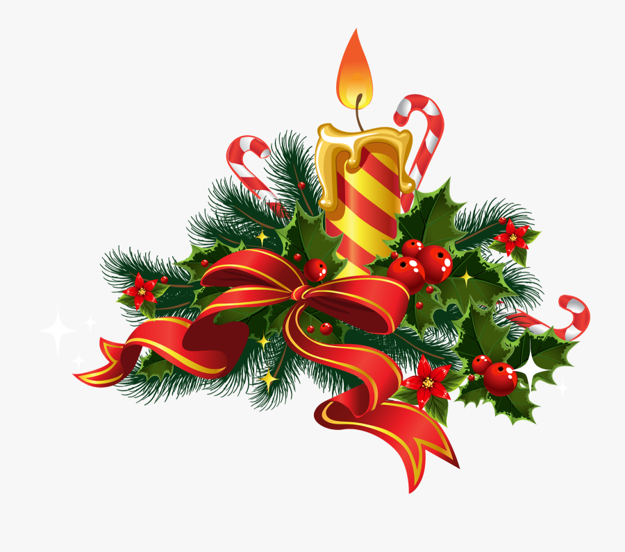 Candles Photography Decoration Church Christmas Stock - Christmas Candle Vector, Transparent Clipart