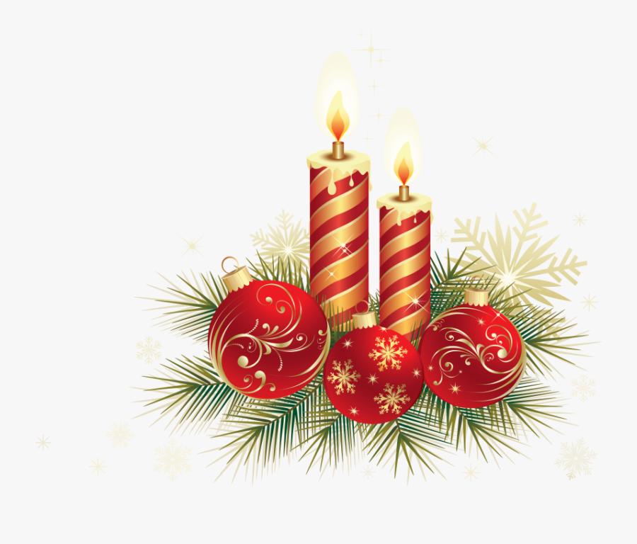 Transparent Christmas Candle Clipart - Christmas Ball Design Png, Transparent Clipart