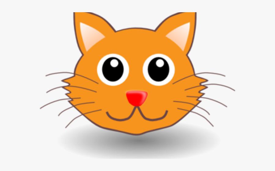 Kittens Clipart Face - Cat Face Clipart, Transparent Clipart