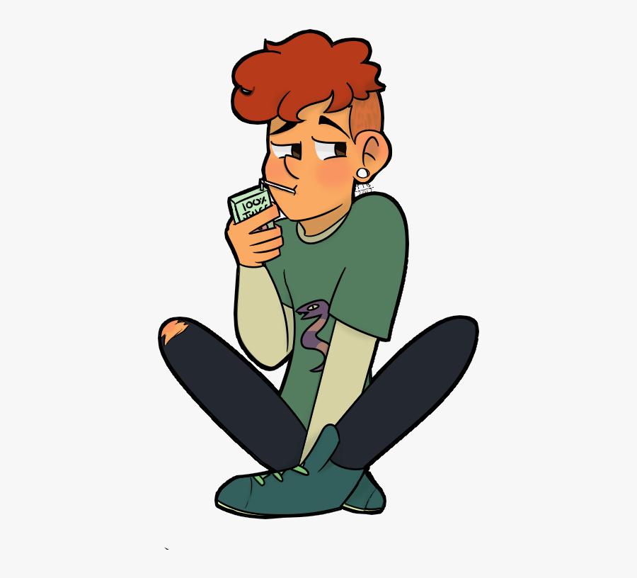 Clip Art Sad Boy Cartoon - Boy Sad Drinking Cartoon Png, Transparent Clipart