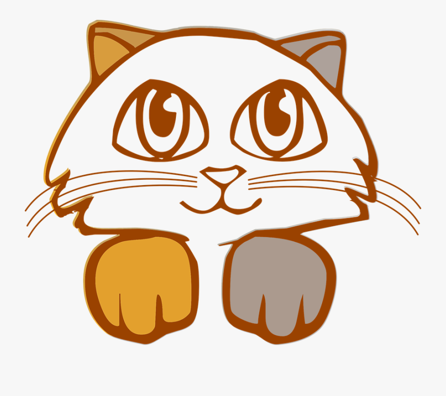 Animal Cat Feline Free - Dibujo Gato Png, Transparent Clipart