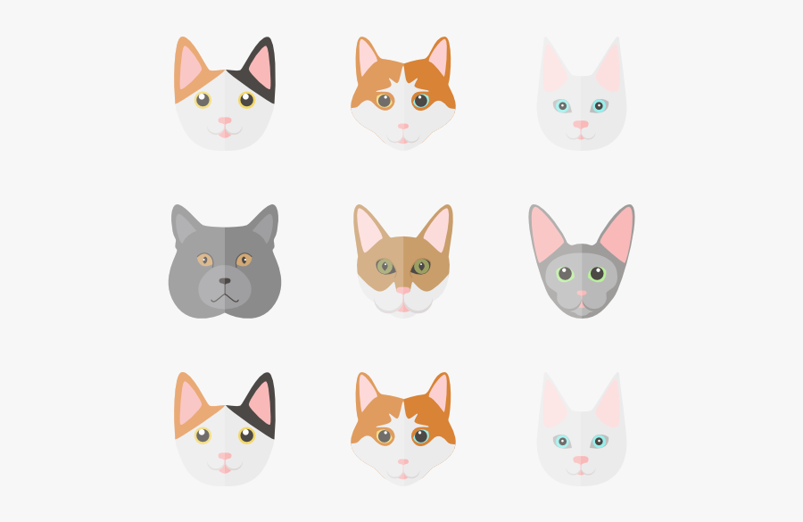 Clip Art Icons Free Vector Set - Free Cat Icon, Transparent Clipart