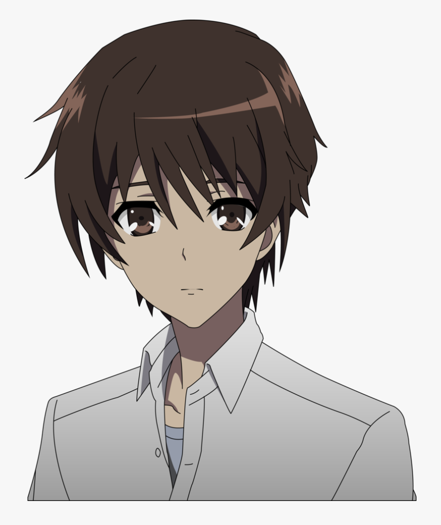 Animated Sad Boy Png Image - Anime Boy With Brown Hair And Brown Eyes, Transparent Clipart