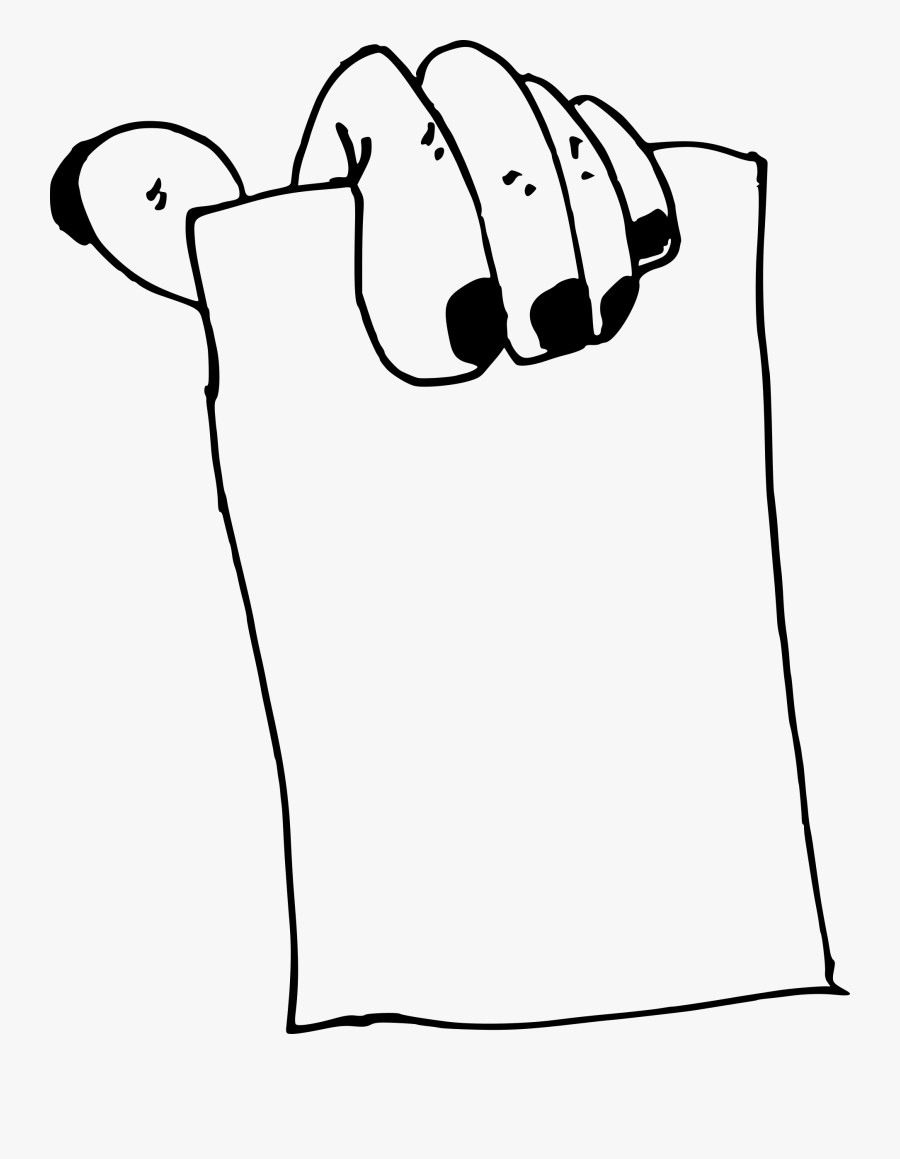 Hand With Paper - Hand Holding Paper Drawing, Transparent Clipart